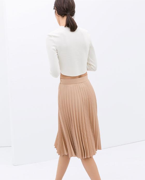 zarapleatedskirt